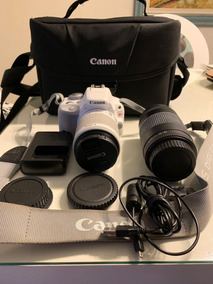 Câmera Fotográfica Branca Canon Eos - Rebel Sl1 +lente Extra
