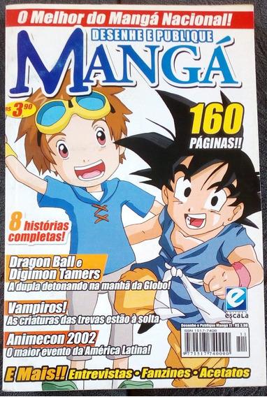 Revista Desenhe E Publique Mangá Nº 11 Dragon Ball - Digimon