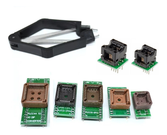 Kit Adaptador Eprom Universal Plcc E Soic8 - 8peças