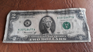 Billete Dos Dolares De 1976