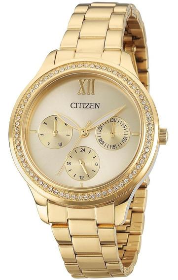 Relógio Feminino Citizen Tz28342g 36mm Aço Dourado