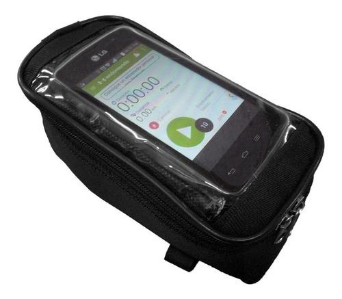 Imagen 1 de 5 de Bolso Porta Celular Delantero Para Bicicleta Mediano