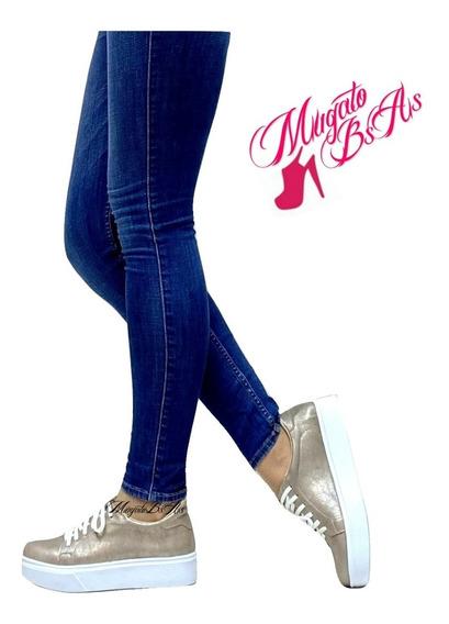 Zapatillas Plataforma Baja Art 06 Metalizadas Mugato-bsas®