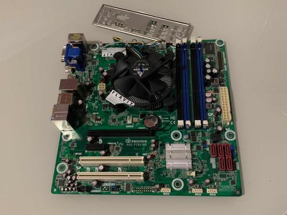 Kit Placa Mãe 1156 + I5-650 3.20ghz + Cooler + Espelho