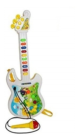 Guitarra Musical Infantil Com Microfone Karaoke Interativa