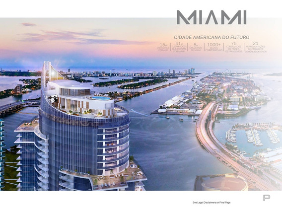 Apartamento Para Venda Em Miami No 2º Maior Empreendimento Dos Estados Unidos, 1 Quarto + 1 Comodo Sala/quarto, 1.5 Banheiro, 102 M2 Privativos + 9 M2 - Ap01299 - 33737898