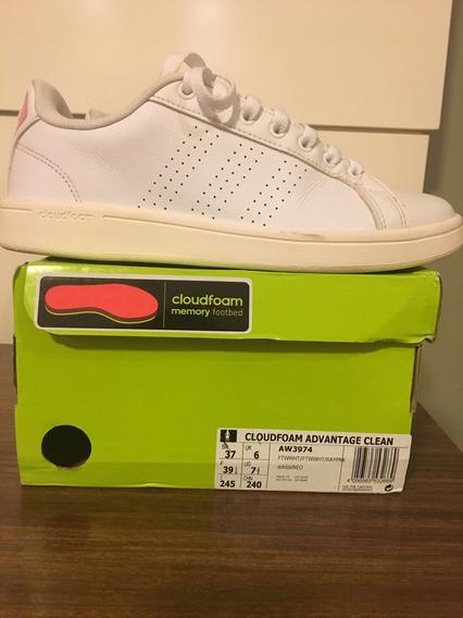 Tênis adidas Fem. 37 Branco E Rosa