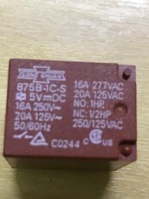 10 Pç Relé 5vdc 20a Spdt 1 Contato Reversível 875b-1cc-f-s