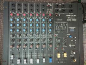 Mesa De Som-wattson-amw 8 Esd Áudio Mix 12 Canais P10