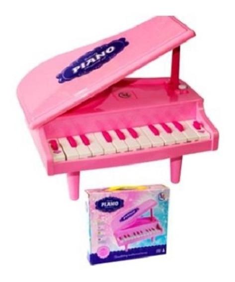 Teclado Do Bebe Piano Infantil Musical Brinquedo Rosa Menina