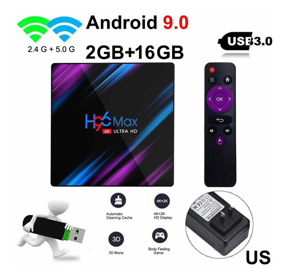 H96 Max Smart Tv Box Android 4 Gb Ram 2gb/16 1080p 4k