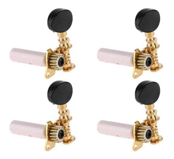 Tarraxas Individuais Douradas Cavaco Banjo