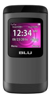 Celular Flip Blu Zoey Flex 2g P Idosos Dual Chip Original D
