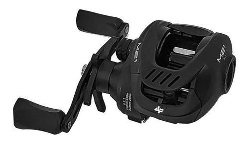 Imagem 1 de 3 de Carretel carretilha Albatroz Fishing M21 Slim direito color preto
