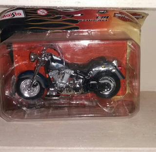 1998 Flstf Fat Boy Harley-davidson ( Maisto ) Escala 1:18