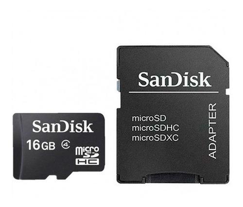 Cartão Memória Micro Sd 16gb Adaptador Microsdhc Sandisk