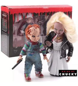 Action Figure Chucky E Tiffany Brinquedo Assassino Na Caixa