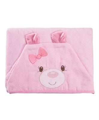 Toalha Com Capuz Funny Ursinha Rosa - Baby Joy