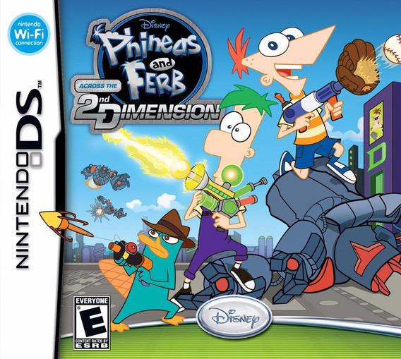 Jogo Phineas Ferb Across 2nd Dimension Nintendo Ds Original