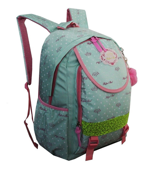 Mochila Feminina Escolar Notebook Juvenil Infantil Cores H7 Costas
