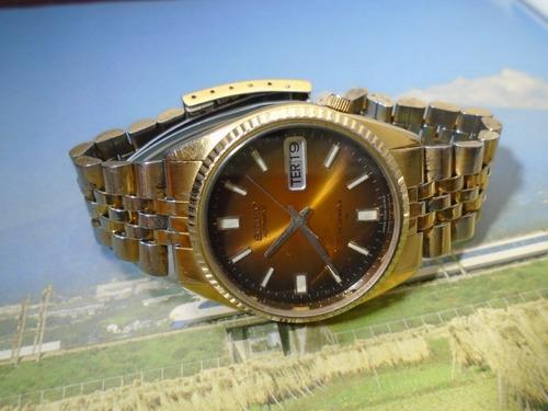 Seiko Folhado Ouro Amtigo Ref 7009 3110 Automático