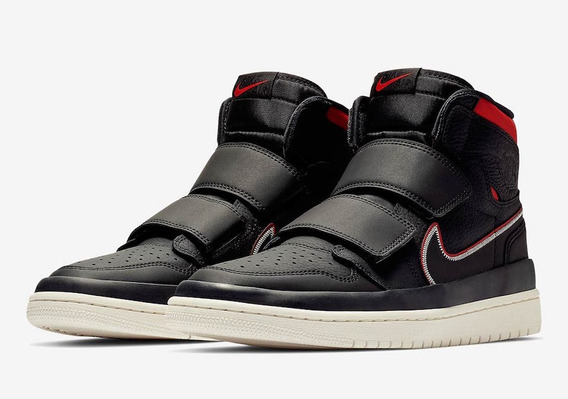 Tenis Air Jordan 1 Retro High Double Strap black Red