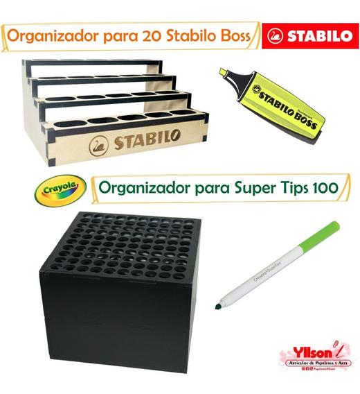 Paquete De Organizadores Para 20 Stabilo Y 100 Super Tips
