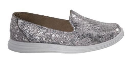 Zapato Confort Shosh 4560 Cof 825101 Plantilla Piel Metalico