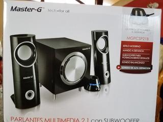 Parlante Multimedia 2.1 Master-g