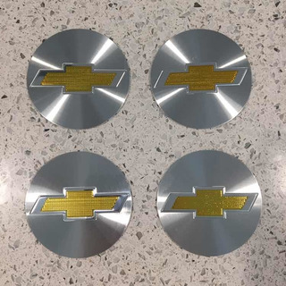 Set 4 Logos Emblemas De Llanta Chevrolet 56mm