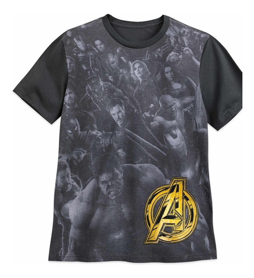Marvel Avengers Playera P/ Hombre Original Disney Store Tch