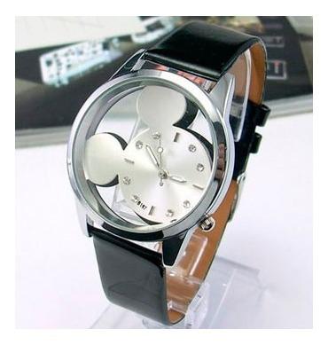 Relógio Feminino Mouse Fundo Prata - Quartzo