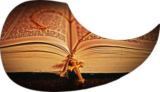 Escudo Palheteira Resinada Violão Aço Holy Bible
