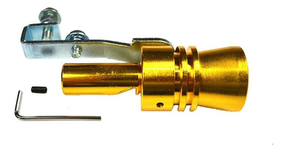 L Gold Car Tuning Turbine Whistle Exhaust Pipe Sounder Turbi