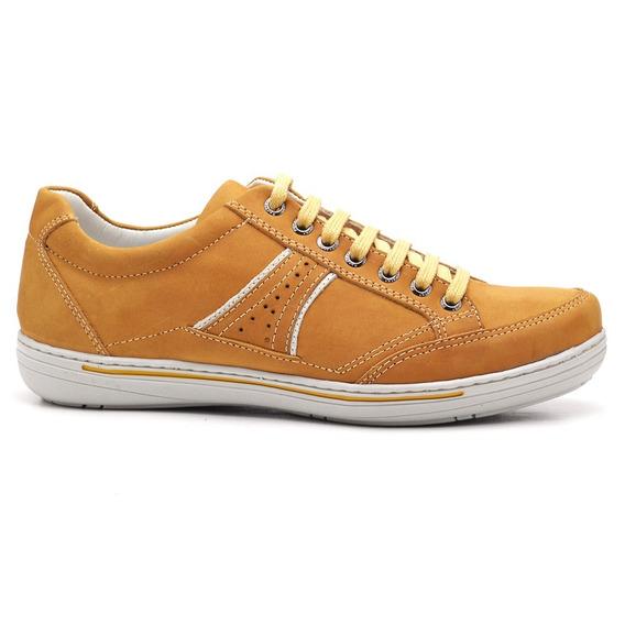 Sapato Sapatênis Masculino Mostarda Ranster3013 Frete Grátis