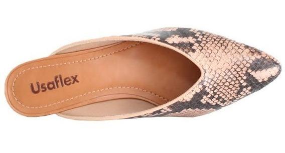 Mule Confort Usaflex Onça 6609