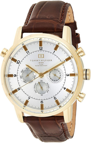 Relógio Tommy Hilfiger 1790874 Pulseira Couro Marrom