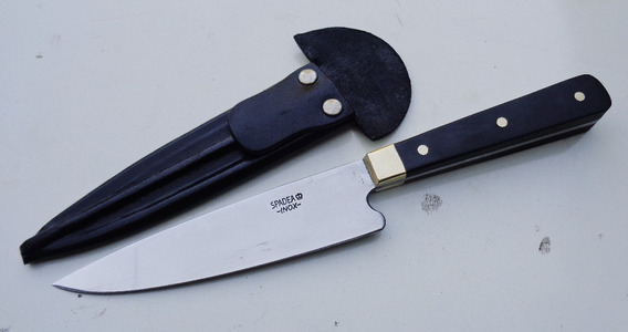 Cuchillo Spadea, Inox 420, Ébano, Tipo Solingen, No Tandil