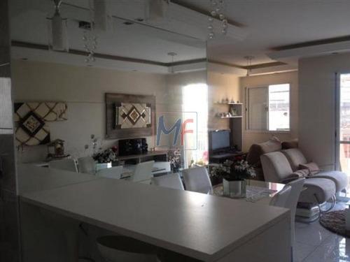 Imagem 1 de 12 de Ref: 2803 - Lindo Apartamento No Bairro Vila Santa Clara, Todo Decorado, Mobiliado, Com 3 Quartos (1 Suíte) Salim Faram Maluf, Anhaia Mello. - 2803