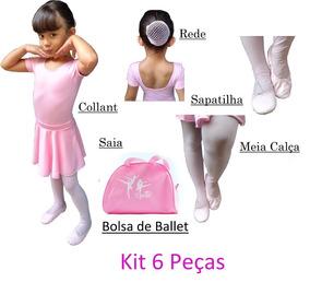 Roupa De Ballet Bailarina Com Bolsa