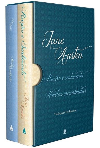 Box Caixa Razão E Sentimento Novelas Inacabadas Jane Austen