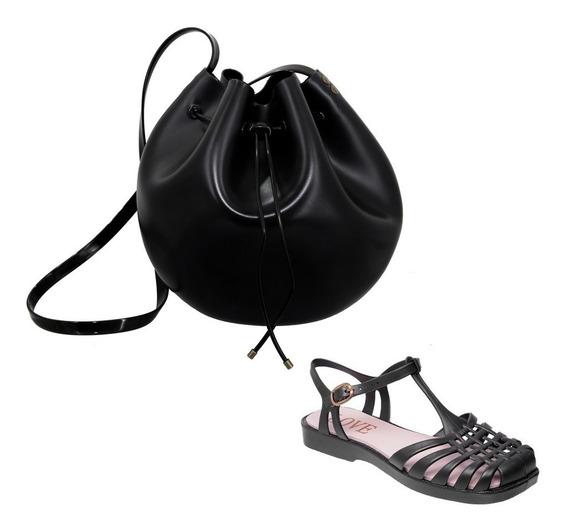 Kit Sandalia Aranha + Bolsa Bag Saco