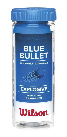 Bola Wilson De Frescobol - Blue Bullet - Tubo C/3 - Frescobo