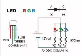 15x Led 5mm Rgb 4 Terminais Para Arduino Robótica Automação