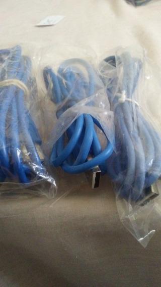 Cable Azul Usb Internet,impresora, Modem, Escaner 1mt