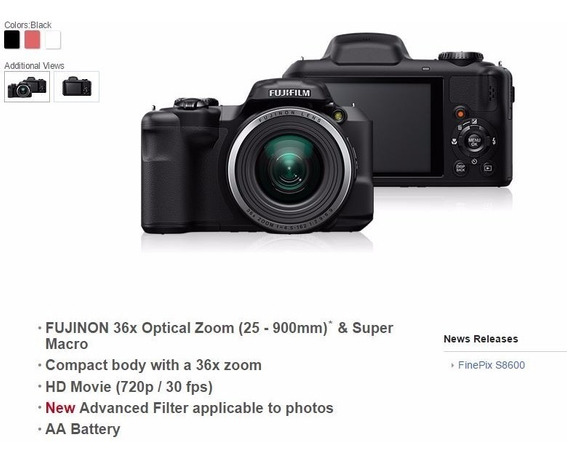 Oportunidade Câmera Digital Fujifilm Finepix S8600 16mp