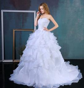Hermoso Vestido De Novia Talla L.