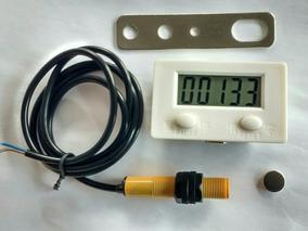 Contador Pulsos Lcd Por Indução Magnética,c/ Sensor