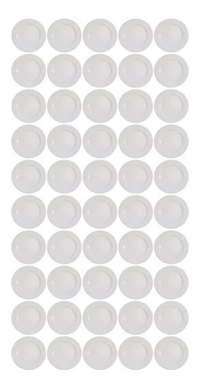 50 Prato Cerâmica Raso Segunda Linha 25cm Ref 3302
