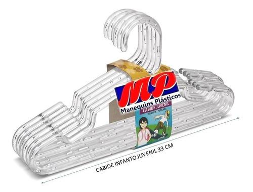 Cabide Acrílico Infanto Juvenil Embalagem Com 300 Pçs 33 Cm